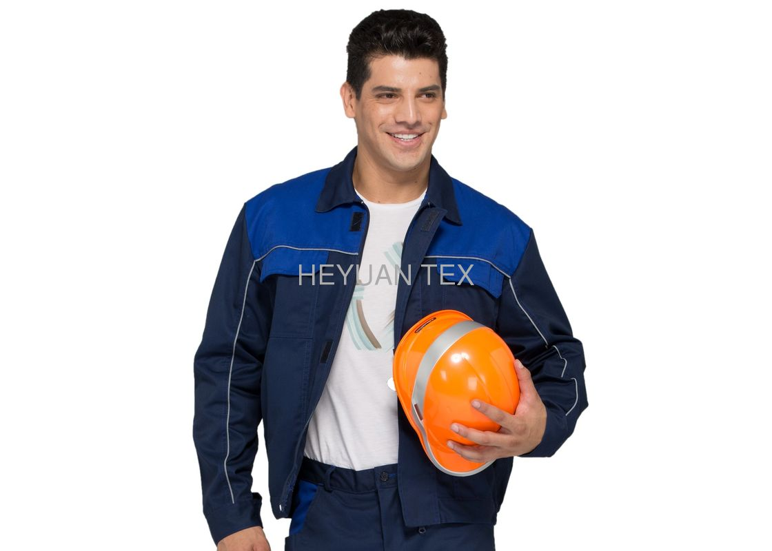 Soft Industrial Mens Jacket , Safety Bright Working Jacket With Adjustable Waistband
