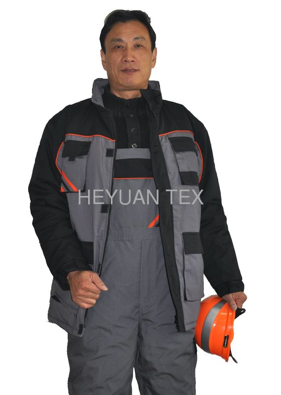 PRO Long Warm Winter Work Jackets ,  Mens Safety Winter Coats With Padding
