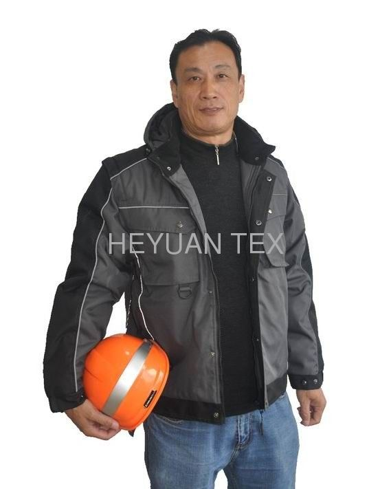 Classic Warm Winter Work Jackets Oxford Material With Detachable Sleeves
